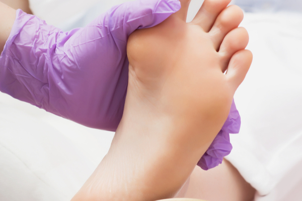 Pedicure Process of Scrubbing