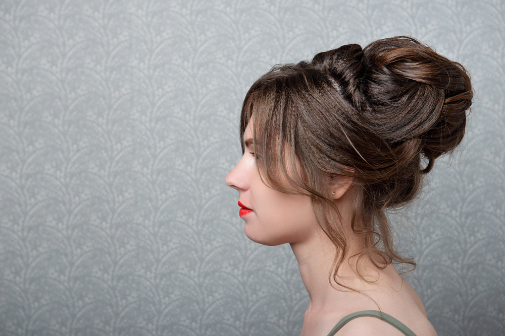 Half-buns are the way to go with short, curly hair!
